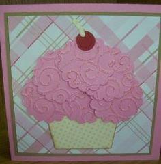 Cupcake card. Cute way to make it