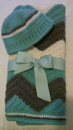 Pinner: ready to ship crocheted boys chevron baby by sweetfaithboutique, $52.00 My reason for pinning is for the inspiration of coloring and edging