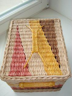 крышка к плетеному коробочку