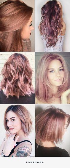 Hair Color - Rose Gold Sera la Couleur de Cheveux la Plus Cool de lAnnée- this colour is beautiful!
