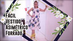 DIY Fácil vestido Asimétrico Forrado - Easy Asymmetric Dress Lined Omair...