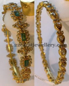 Jewellery Designs: Pachi Bangles Sets