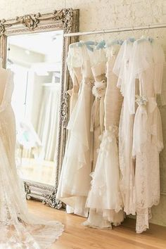 Romantic wedding dresses at Alice Padrul bridal salon in Chicago. // The best places to find a wedding dress in Chicago: (http://boston.racked.com/archives/2014/06/09/wedding-dresses-boston.php)