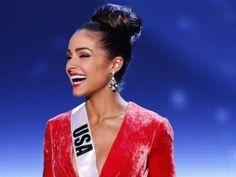 Wedding hair | American Olivia Culpo , Miss Universe - AP Photo. #updo #bun