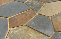 Wild Hyena Blue Grey Tan Rust Black Irregular Shape Mesh Naturals from American Slate-colors