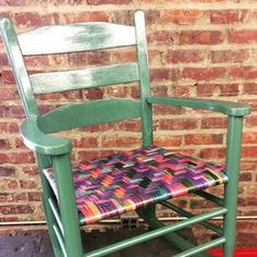 Dyed reed #rockingchair