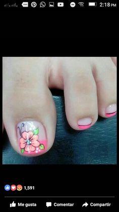 Toenail Art Designs, Pedicure Designs, Toe Nail Designs, Nail Polish Designs, French Pedicure, Pedicure Nail Art, Toe Nail Art, Fabulous Nails, Gorgeous Nails