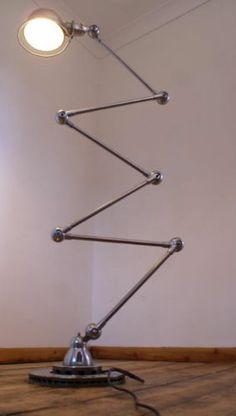 Jielde 6 armed French industrial floor lamp mid century modernism eames era