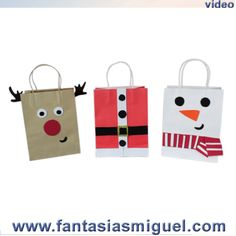 Proyectos |Bolsas de regalo para navidad Craft Christmas Presents, Christmas Decorations Diy For Kids, Christmas Art For Kids, Christmas Activities For Kids, Christmas Gift Bags, Preschool Christmas, Christmas Gift Wrapping, Holiday Crafts, Xmas