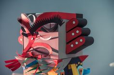 Paper Totem by INK studio , via Behance