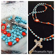 Rosary made with ❤️