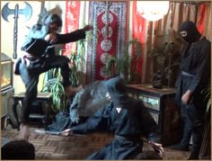 Among the many Ninja Exercises of the Gyokku Ninja Clan are methods of leaping to avoid the disabling slash of an enemy's knife or blade...