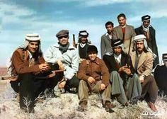 الملك فيصل الثاني مع امير ربيعة في الكوت اثناء زيارته له في رحلة صييد سنة 1952