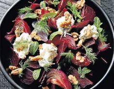 Slow-roasted beetroot with feta yoghurt