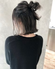 Pin on ヘア Pin on ヘア Ash Blonde Highlights On Dark Hair, Hair Color Streaks, Brown Hair Balayage, Brown Blonde Hair, Ombre Hair Color, Dark Ash Brown Hair, Peekaboo Hair, Low Lights Hair, Hair Arrange