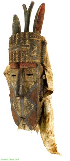 Loma Toma Horned Mask Old Guinea Africa 26 Inch - Toma, Loma - African Masks