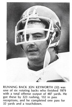 "Running back JON KEYWORTH was a very popular Bronco in his seven seasons with Denver (1974-80)!! Jon also sang on the side; he recorded a rally song for the Broncos in their 1977 Cinderella season titled ""Make Those Miracles Happen""!! Jon also recorded a full-length album called ""Keys"" in 1978."
