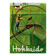 Hokkaido Japan ~ Vintage Japanese Travel Ad Posters