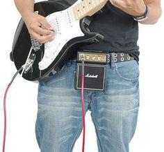 L'ampli Marshall pour les musiciens nomadesMini ampli MarshallFonctionne à piles ou sur secteurJouez de la guitare électrique sur la plage