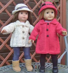 American Girl Doll. Town and Country Coat Set PDF Knitting Pattern No 20. $4.00, via Etsy.