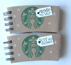 Starbucks Recycled Mini-Books ~~~