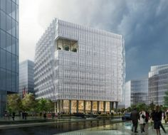 The winning design for the new U.S. Embassy in London, by KieranTimberlake Architects