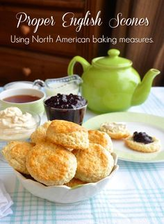 A proper English scones recipe using North American baking measurements instead of weight measures. Perfect with thick cream and your favorite homemade jam. THESE ARE THE BEST. BETTER THAN ANY BREAD English Scones, British Scones, English High Tea, British English, Tee Sandwiches, Finger Sandwiches, Recipe Using, Baked Chicken, The Best