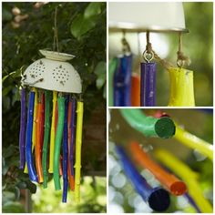 It& not a wind chime, it& a wind clunk! Learn how to make your own with this tutorial. Baby Garden Ideas, Garden Ideas Eyfs, Garden Projects, Garden Ideas For Nursery, Preschool Playground, Preschool Garden, Sensory Garden, Eyfs Outdoor Area, Outdoor Play Areas