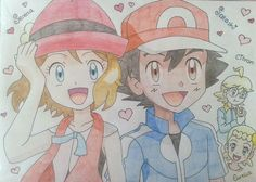 Ash and his kalos friends #Amourshipping