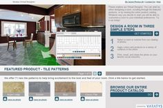 Try out different wallpaper, Benjamin Moore Paint colors, tile, hardwood & carpet in the virtual room designer!