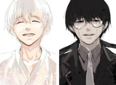 "Kaneki / Sasaki and Reaper Kaneki ||| Tokyo Ghoul: Re Chapter 67 ""Changing Vessels"" Fan Art by golilramobe on Twitter"