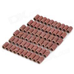 80# + 120# + 180# Polishing Tube for Dremel - Brown (60 PCS)