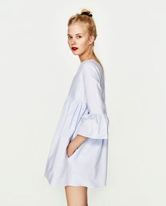 JUMPSUIT DRESS WITH RUFFLED SLEEVES