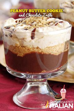 Peanut Butter Cookie and Chocolate Trifle