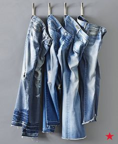 Fashion words to live by: You can never have too much denim! The hottest jean trends right now are frayed and released hems. The unfinished appearance puts a new spin on the much loved distressed look.