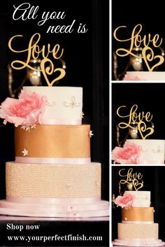 Why use many words when one says it all. For more cake toppers made with love…