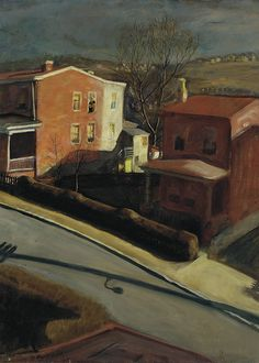 Francis Speight (American, 1896-1989), Late Afternoon, 1931. Oil on canvas. The Pennsylvania Academy of Fine Arts, Philadelphia.