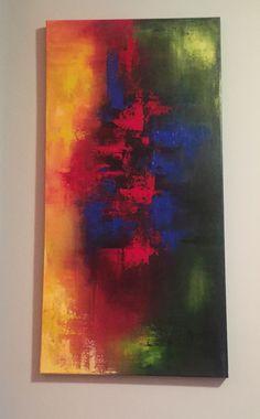 Abstracto colores primarios. En la casa de Pampe