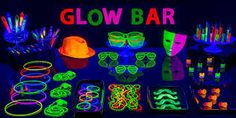 Resultado de imagem para neon party decoration ideas