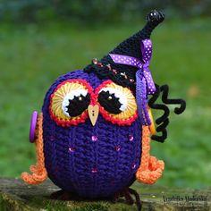 Hallowen owl by VendulkaM - crochet pattern