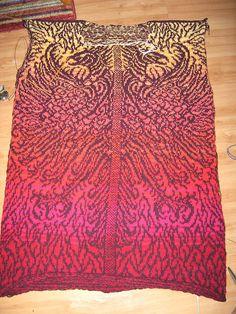 Phoenix by Liralen Li, via Flickr ... pattern designer, Meg Swansen, published in Meg Swansen's Knitting .. http://www.ravelry.com/patterns/library/phoenix-cardigan