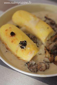la recette des quenelles cuites dans une sauce au vin jaune aux morilles