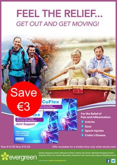 Super Savings this Spring! Offers available during March or while stocks last! Get Moving, Gout, Crohns, Getting Out, Arthritis, Feelings, Sports, March, Spring