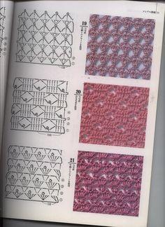 New knitting patterns free bolero charts Ideas Crochet Stitches Chart, Crochet Diagram, Crochet Motif, Knitting Stitches, Crochet Yarn, Knitting Patterns Free, Stitch Patterns, Crochet Patterns, Crochet Gratis