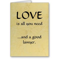 Love And A Good Lawyer Cards