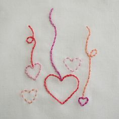 Happy Valentine's Day! Practice back stitch and running stitch with this sweet little sampler. Download your free embroidery pattern, it's my gift to you. The DMC colors used in this piece are 603...