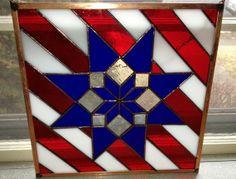 Patriotic Quilt Blocks   Patriotic Stained Glass Panel - Quilt Block Type. ...   Stained Glass