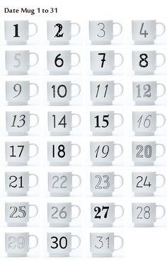 【楽天市場】KEYUCA(ケユカ) Date Mug デザインマグカップ No.1~No.15[マグカップ/スタッキングマグ/コップ/ギフト/プレゼント/誕生日/記念日/スタッキング/おしゃれ/オシャレ/かわいい/磁器/陶器/日本製/美濃/数字/ナンバー/通販/楽天] 【RCP】:KEYUCA