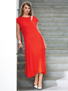 Inset Dress with Cutout (Plus Size) 10/2014