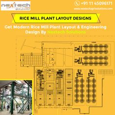 Nextech solutions is India's leading rice mill plant consultant which offers rice mill layouts, designing and installation. Flour Mill Machine, Rice Plant, Rice Mill, Floor Layout, Factory Design, Cad Drawing, Plant Design, Thesis, Layout Design